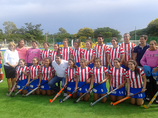 Paraguay national team with President Federico Franco
