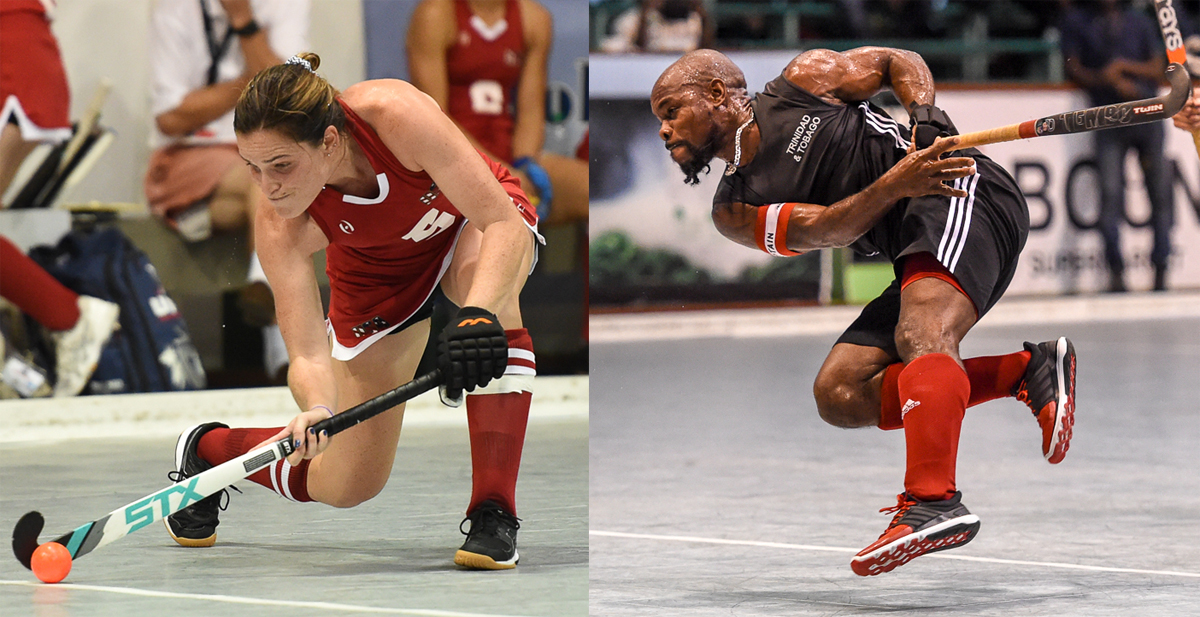 Ali Campbell (USA) and Solomon Eccles (Trinidad & Tobago)
