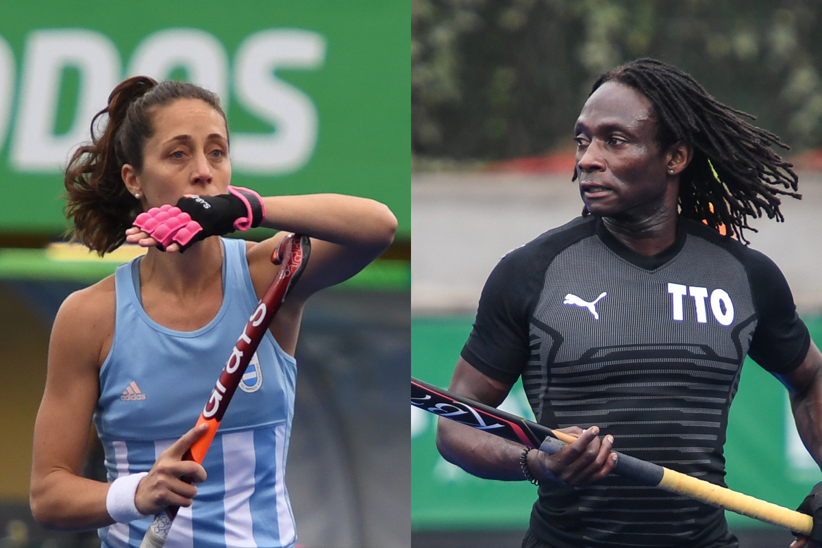 Silvina d'ELIA (ARG) and Kwan Browne (TTO) - Honorary Captains, 2019 PAHF Elite Teams