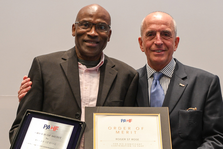 2019 Congress, Lima - PAHF Order of Merit to Roger St. Rose (TTO)